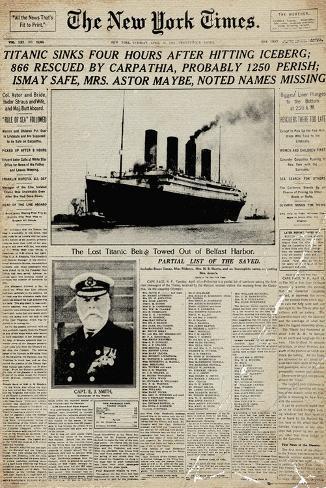 Titanic, tidning Poster