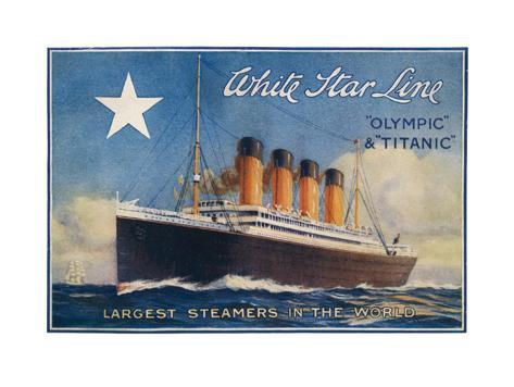 Titanic-White Star Line Art Print