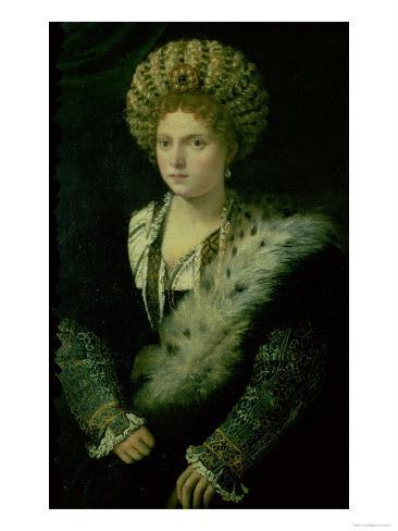 Portrait of Isabella D'Este (1474-1539) Giclee Print