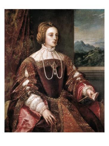 Portrait of the Empress Isabella of Portugal Art Print