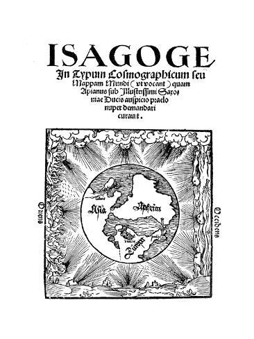 Title Page of Isagoge in Typum Cosmographicum Seu Mappam Mundi by Peter Apian, 1523 Giclee Print