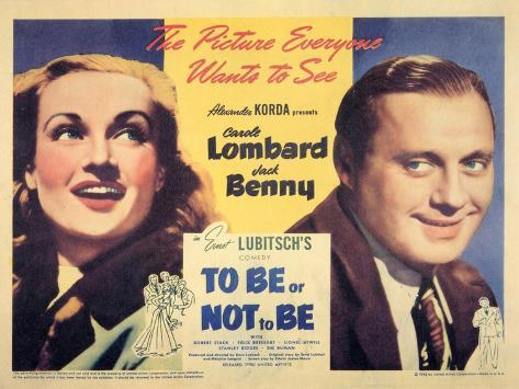To Be Or Not To Be, 1942 Art Print