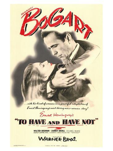To Have and Have Not, 1944 Konstprint