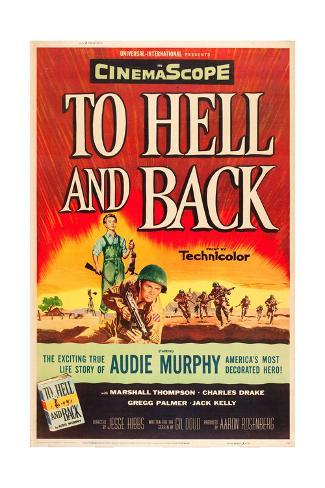 TO HELL AND BACK, Audie Murphy on US poster art, 1955. Stretched Canvas Print