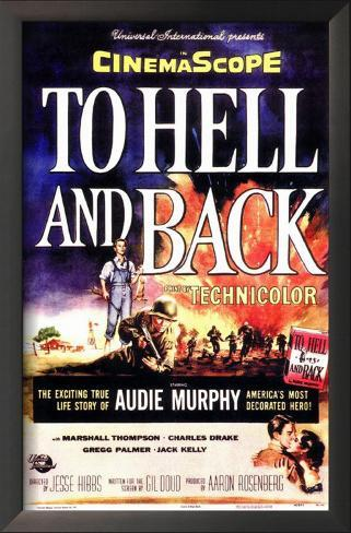 To Hell and Back Impressão artística emoldurada