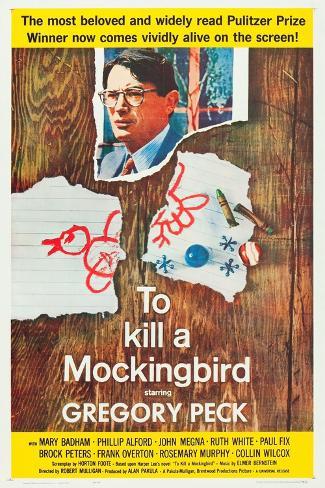 To Kill a Mockingbird, Gregory Peck, 1962 Stampa artistica