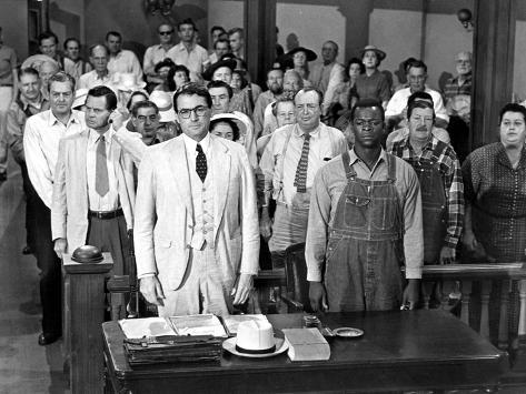To Kill a Mockingbird, Gregory Peck, Brock Peters, 1962 Photo