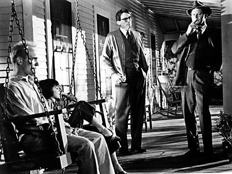 To Kill a Mockingbird, Robert Duvall, Mary Badham, Gregory Peck, Frank Overton, 1962 写真