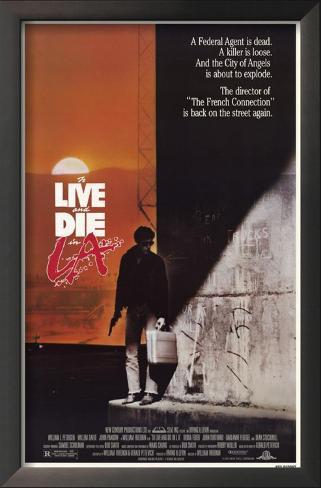 To Live and Die in LA Impressão artística emoldurada