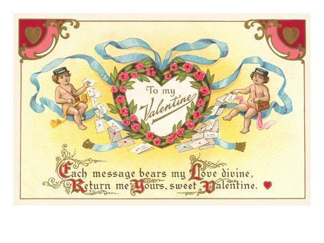 To My Valentine, Cupid Mailmen Lámina