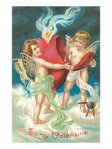 To My Valentine, Cupids Repairing Heart Lámina