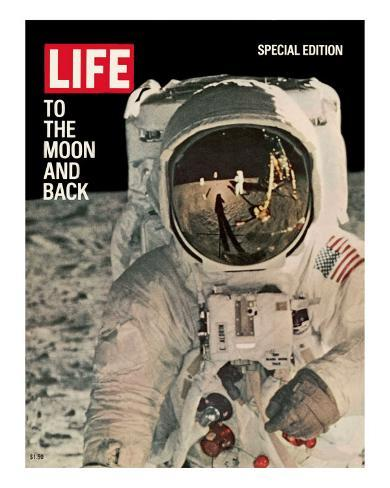 To the Moon and Back, Reflections on Astronauts Facemask, August 11, 1969 Premium Photographic Print