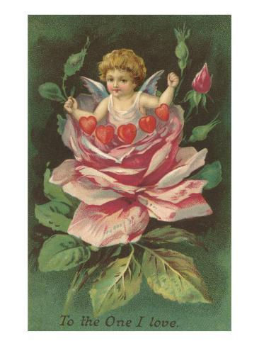 To the One I Love, Cupid in Rose Lámina