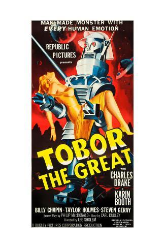 TOBOR THE GREAT, poster art, 1954. Stretched Canvas Print