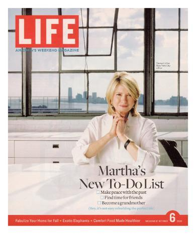 Martha Stewart in her Office at Martha Stewart Living Omnimedia, Inc., October 6, 2006 Photographic Print