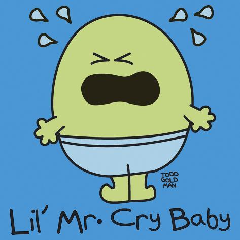 Lil Mr Cry Baby Giclee Print