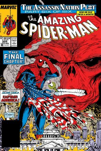 Amazing Spider-Man No.325 Cover: Spider-Man and Red Skull Poster