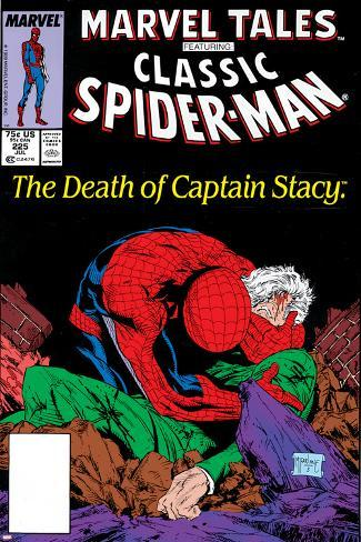 Marvel Tales: Spider-Man No.225 Cover: Spider-Man and Captain Stacy Fighting Poster