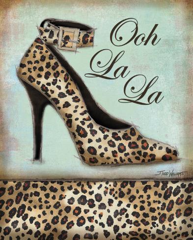 Leopard Shoe Art Print