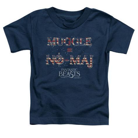 Toddler: Fantastic Beasts- Muggle = No Maj Baby T-Shirt