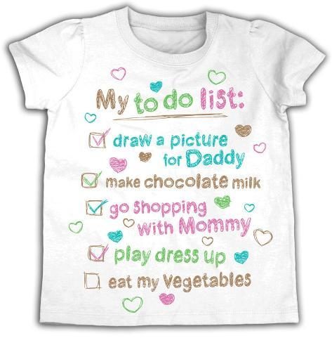 Toddler: My To Do List T-Shirt
