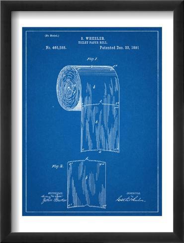 Toilet Paper Patent Framed Art Print