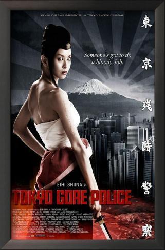 Tokyo Gore Police Impressão artística emoldurada