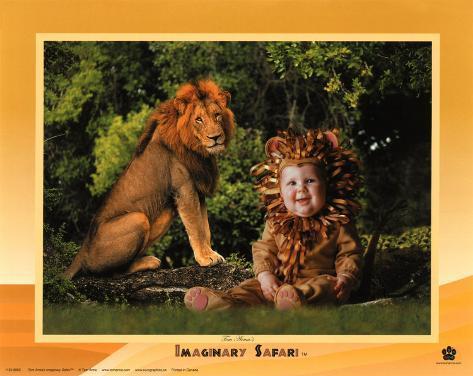 Imaginary Safari, Lion Art Print