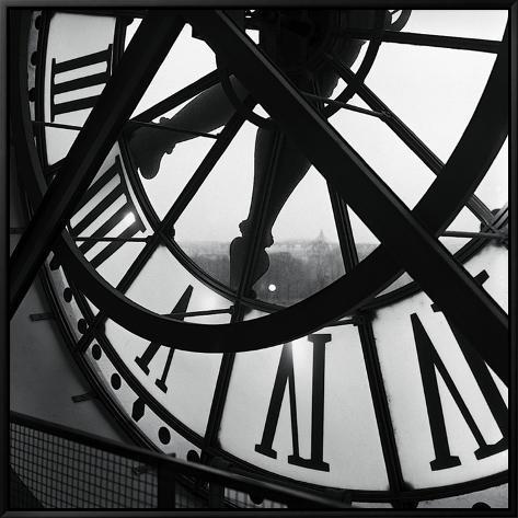 Orsay Clock Framed Canvas Print