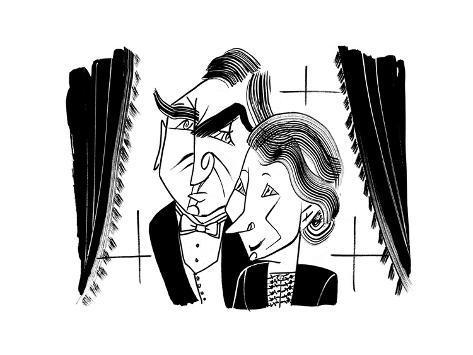 Downton Abbey Carson and Hughes - Cartoon Premium Giclee Print