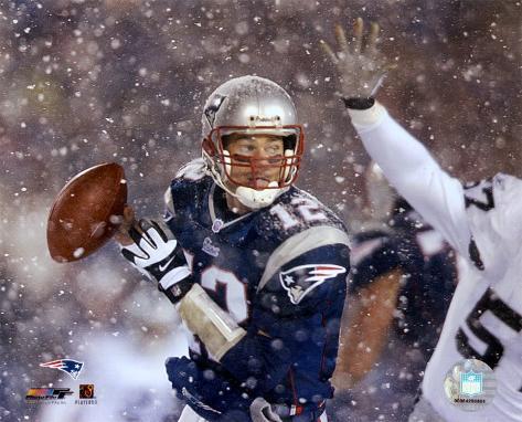 Tom Brady 2001 Divisional Playoff vs. Raiders Photo