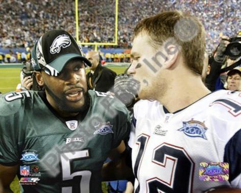 Tom Brady & Donovan McNabb - Super Bowl XXXIX - talk after game Photo