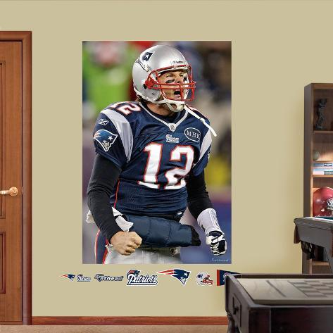 Tom Brady Flex Mural Wall Decal