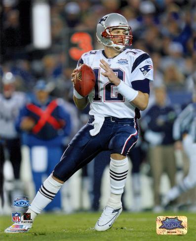 Tom Brady - Super Bowl XXXIX - passing in first quarter Photo