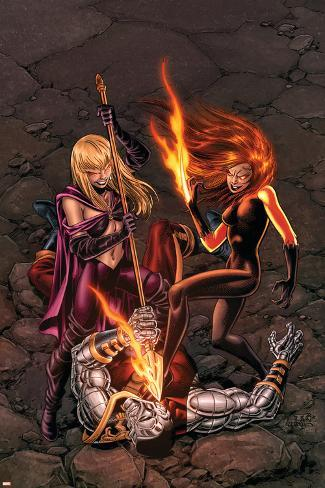 X-Men Forever No.14 Cover: Magik, Shadowcat and Colossus Poster