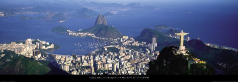 View over the City and Bay, Rio de Janeiro Art Print