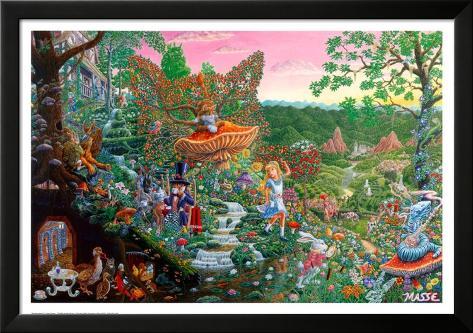 Wonderland Lamina Framed Poster