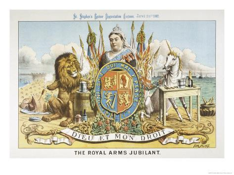 Victoria Depicted with Her Loyal Lion Giclee Print