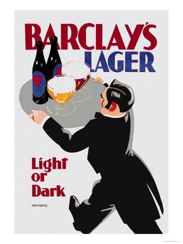 Barclay's Lager: Light or Dark Art Print