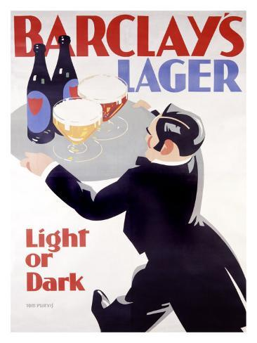 Barclay's Lager Giclee Print