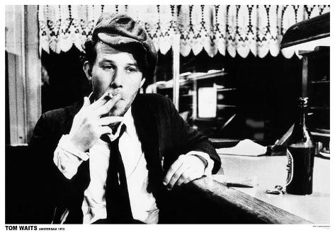 Tom Waits-Amsterdam 1973 Poster