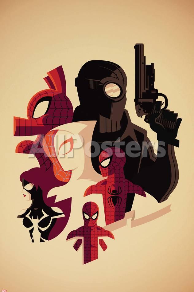 Web Warriors No.3 Cover, Featuring Spider-Ham, Spider-Man Noir ...