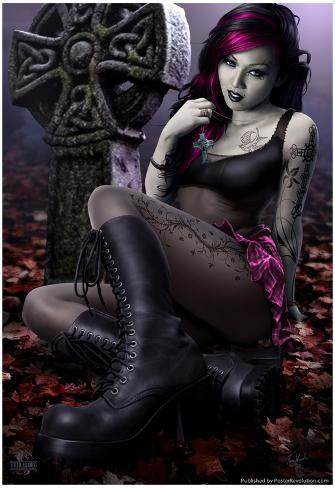 Goth Girl Poster