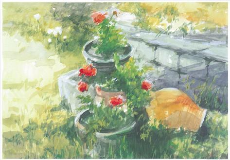 Sunny Garden I Print by Tomas Guillen - AllPosters.co.uk