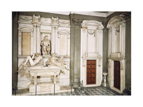 Tomb of Giuliano De' Medici, Duke of Nemours, 1525-1534 Giclee Print