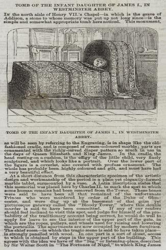 Tomb of the Infant Daughter of James I, in Westminster Abbey Giclee Print
