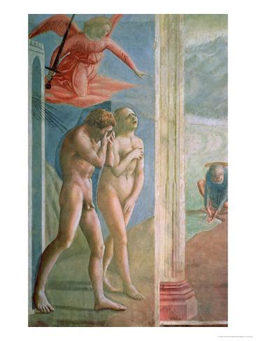 Adam and Eve Banished from Paradise, circa 1427 Giclee Print