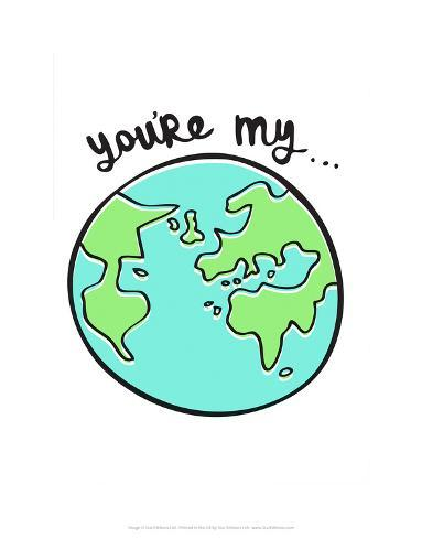 You're My World - Tommy Human Cartoon Print Art Print