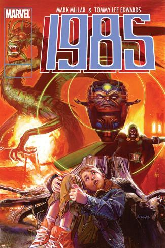 Marvel 1985 No.3 Cover: M.O.D.O.K. and Fin Fang Foom Poster