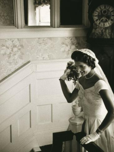 Jackie Kennedy Throwing the Bouquet Photo